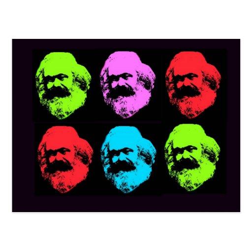 Karl Marx Collage Postcards