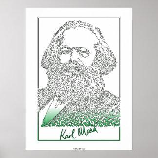 Karl Marx. German philosopher and economist [003] Poster