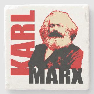 Karl Marx Portrait - Communist Icon Stone Coaster