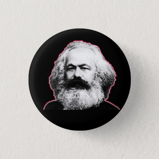 Karl Marx red outline/black 3 Cm Round Badge