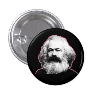 Karl Marx red outline/black 3 Cm Round Badge