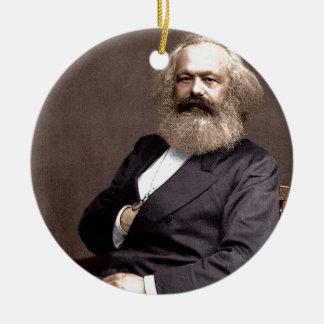 Karl Marx Round Ceramic Decoration