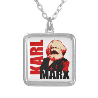 Karl Marx, Socialist & Communist Silver Plated Necklace