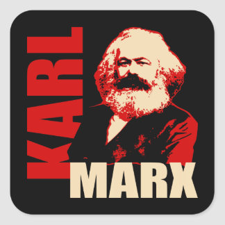 Karl Marx, Socialist & Communist Square Sticker