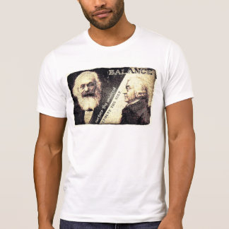 Karl Marx v Adam Smith, the zen of - words on back T-Shirt