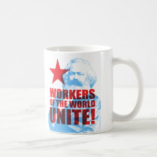 Karl Marx Workers of the World Unite! Basic White Mug