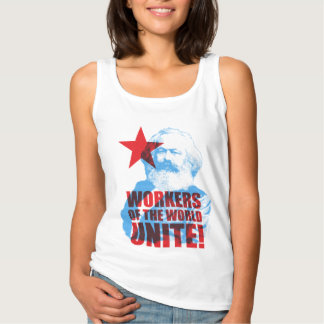 Karl Marx Workers of the World Unite! Slogan Basic Tank Top