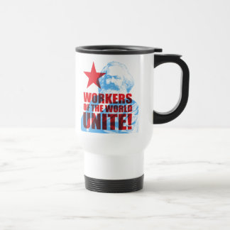 Karl Marx Workers of the World Unite! Travel Mug
