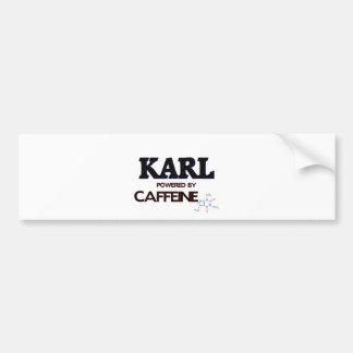 Karl powered by caffeine bumper sticker