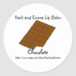 Karli and Emma Chocolate Lipbalm Classic Round Sticker