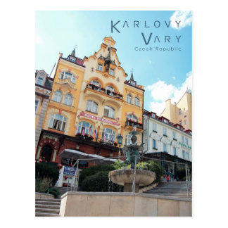 Karlovy Vary, Czech Photo Postcard