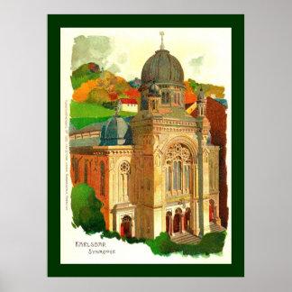 Karlovy Vary (Karlsbad) Synagogue Poster
