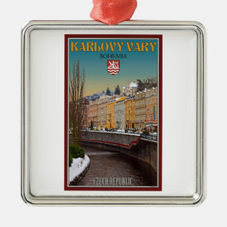 Karlovy Vary - Semnice River Winter Christmas Ornament