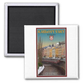 Karlovy Vary - Semnice River Winter Magnet