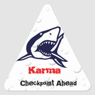 Karma 1 triangle sticker