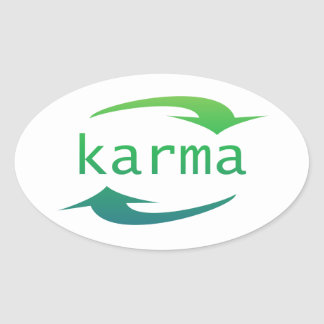 Karma Arrow Oval Stickers