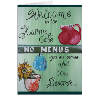 Karma Cafe Card