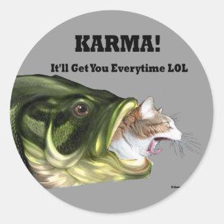 Karma! Classic Round Sticker