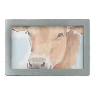 Karma Cow Rectangular Belt Buckle