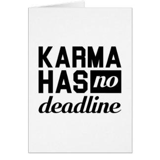 Karma Deadline Card