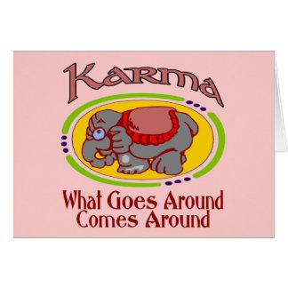 Karma Elephant Card