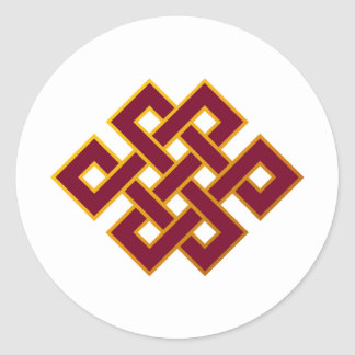 Karma ... Endless Knot or Eternal Knot Classic Round Sticker