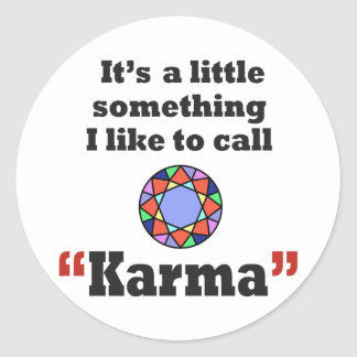 Karma gifts classic round sticker