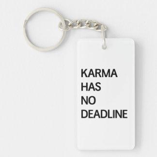 Karma Has No Deadline Key Ring