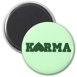 Karma Heart 6 Cm Round Magnet