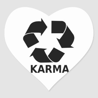 Karma Heart Sticker