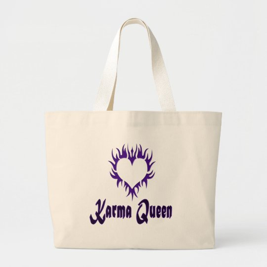 Karma Queen Large Tote Bag