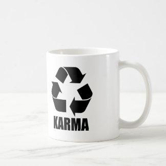 Karma recycle sign coffee mug