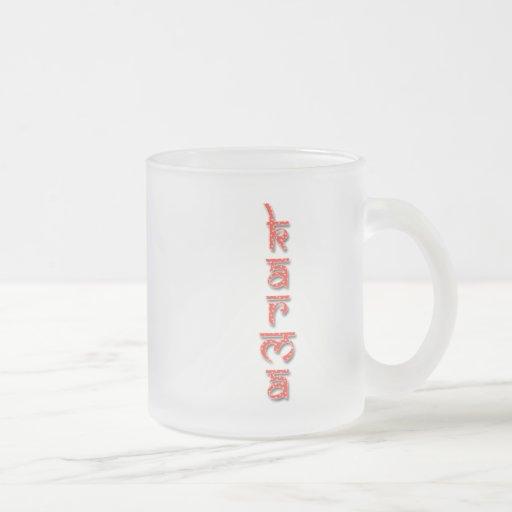 karma - red coffee mugs