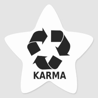 Karma Star Sticker