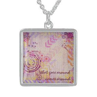 Karma Sterling Silver Necklace