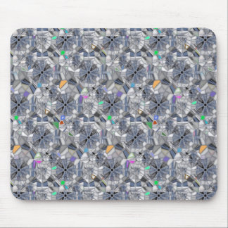Karma Wheels Stained Glass Style Mouse Mat