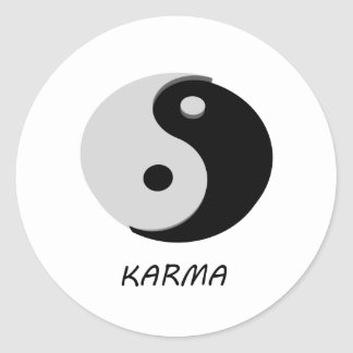 Karma Ying Yang Classic Round Sticker