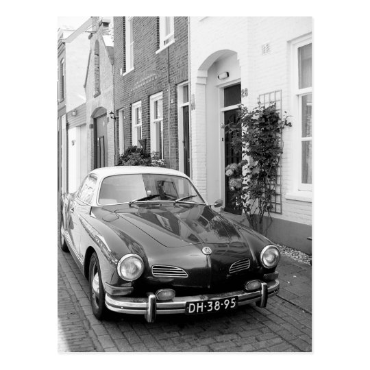 Karmann Ghia Classic Car Art Print Postcard