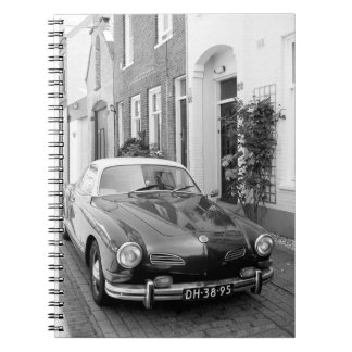 Karmann Ghia Classic Car Spiral Notebook