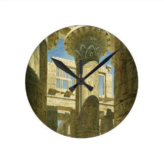 Karnak, c.1866 (w/c on paper) round clock