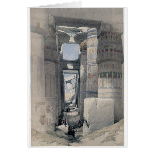 Karnak - Dromos or first court of the temple Card