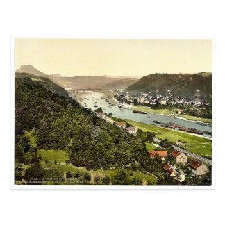 Karola Heights, Bad Schandau, Saxony, Germany magn Postcard