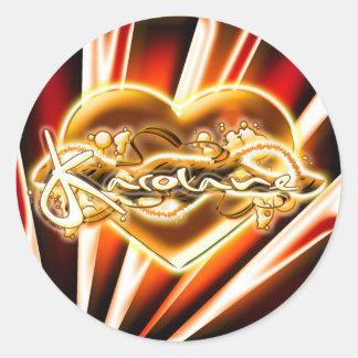 Karolane Round Sticker