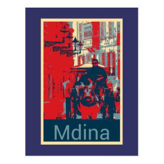 Karrozin in Mdina Postcard