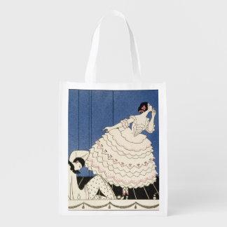 Karsavina, 1914 (pochoir print) reusable grocery bag