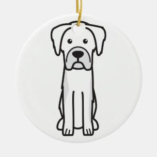 Karst Shepherd Dog Cartoon Round Ceramic Decoration
