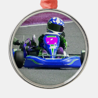 Kart Racer Inverted Color Christmas Ornament