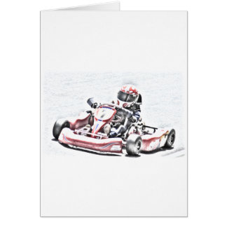 Kart Racer Shaded Sketch Card