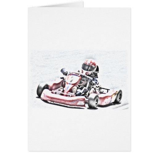 Kart Racer Shaded Sketch Card
