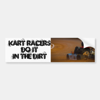 Kart Racing Bumper Sticker